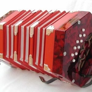 Concertina 2 x 10 knoppen Rood-1